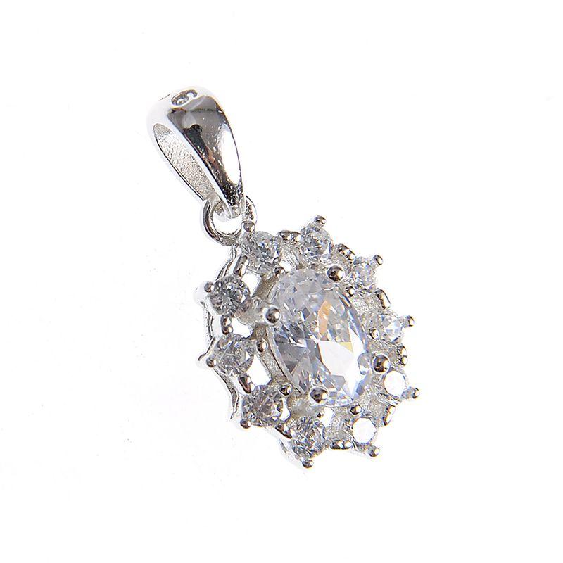 Pandantiv-argint-floare-ovala