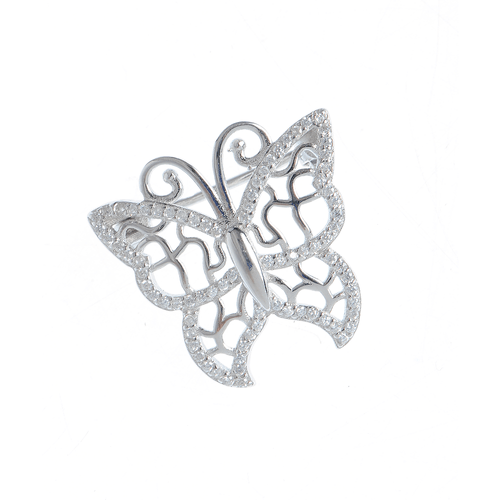Brosa argint, model fluture
