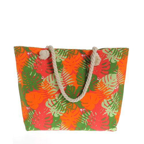 Geanta de plaja, print tropical