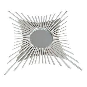 Oglinda rotunda perete cu raze albe