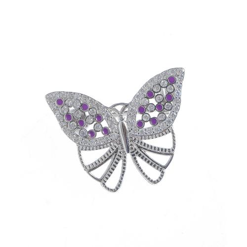 Brosa argint, fluture