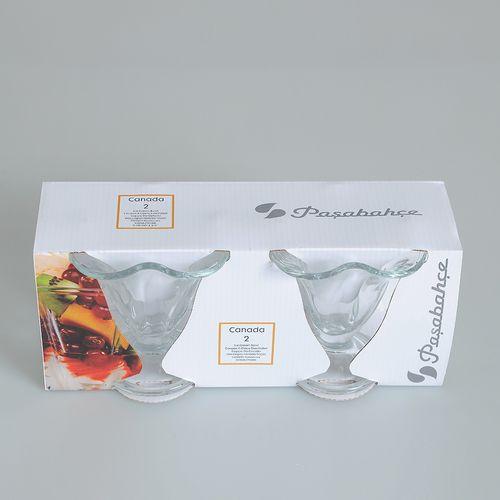 Set 2 pahare de inghetata, transparente