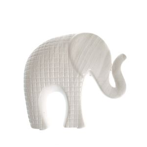 Statueta elefant alb