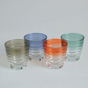 Set 4 pahare colorate model cu cercuri