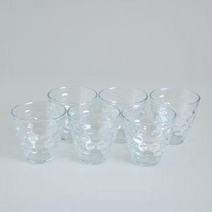Set 6 pahare cu buline transparente