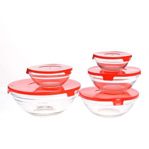 Set 5 recipiente sticla, cu capace etans
