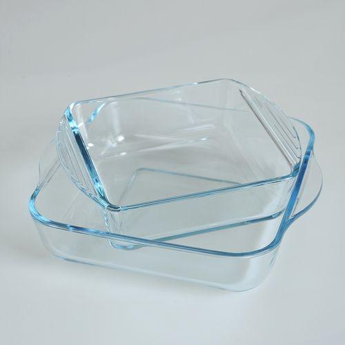 Set 2 vase sticla pentru cuptor