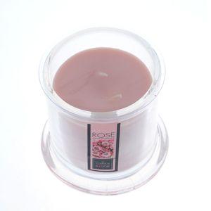 Lumanare parfumata roz cu clopot transparent