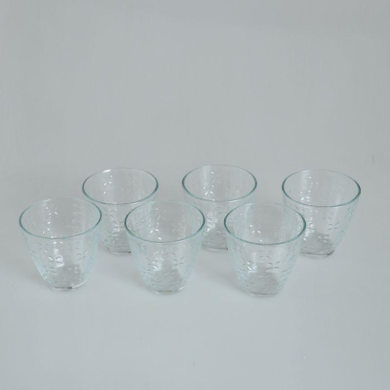 Set-6-pahare-cu-flori-transparente