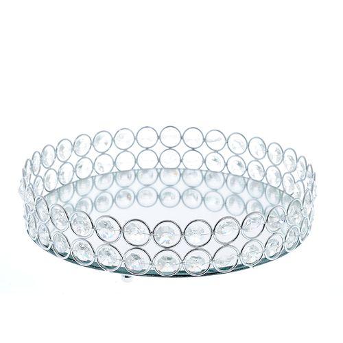 Tava rotunda, cu cristale acrilice