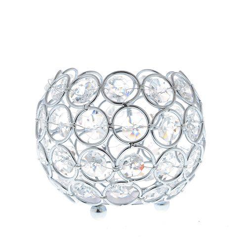Suport lumanare, cu cristale
