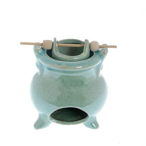 Suport aromaterapie, ceramica turcoaz