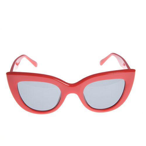 Ochelari cat-eyes rame rosii