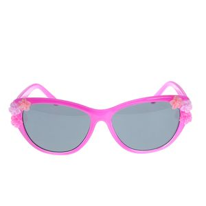 Ochelari roz cu aplicatii florale