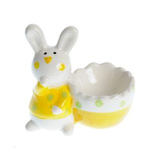 Suport ceramic pentru ou model iepure