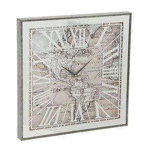 Ceas dreptunghiular  harta lumii