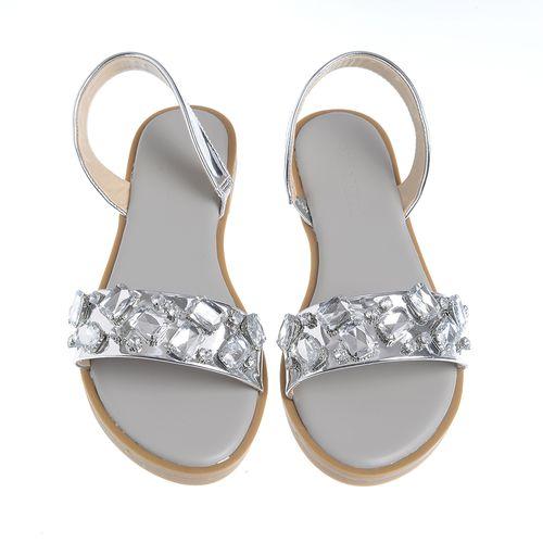 Sandale argintii, cu aplicatii