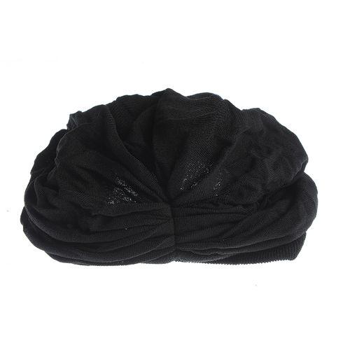 Turban negru pentru par
