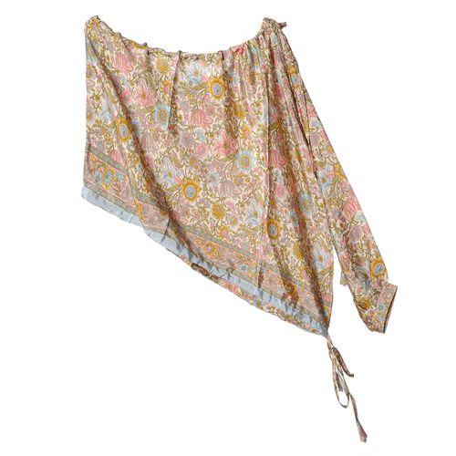 Bluza asimetrica, print floral