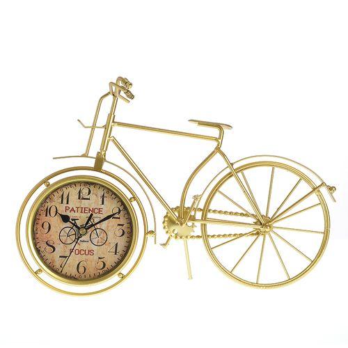 Ceas decorativ, bicicleta aurie