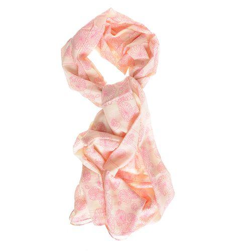 Esarfa cu flori stilizate roz