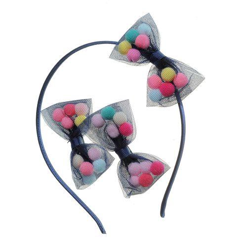 Set 3 accesorii par cu bilute colorate