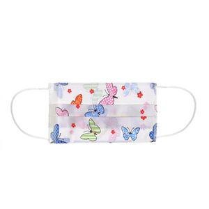 Masca textila cu fluturi pentru copii