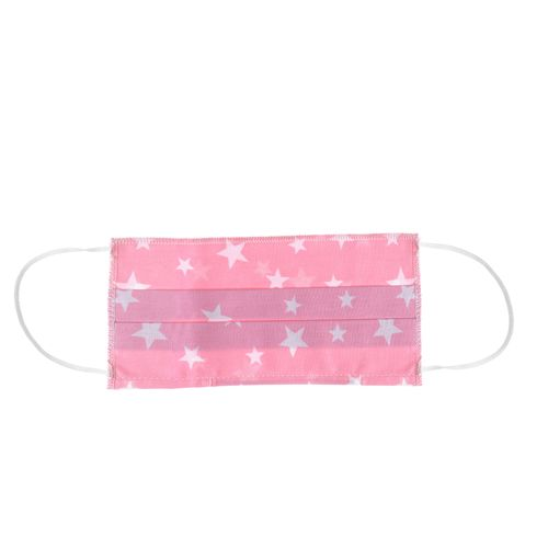 Masca textila roz pentru copii