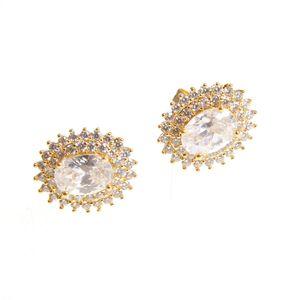 Cercei ovali placati aur