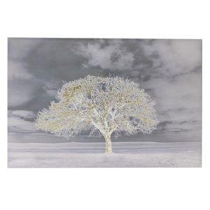 Tablou canvas copac alb