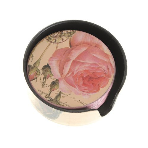 Suport pahare cu trandafiri