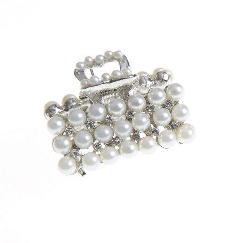 Cleste argintiu cu perle acrilice
