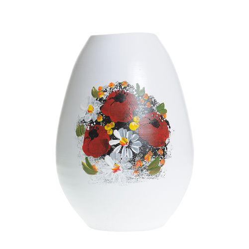 Vaza ceramica cu maci