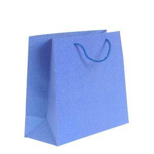Punga cadou  albastru sclipici