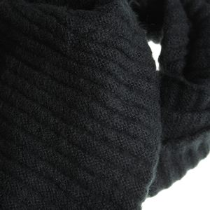 Fular negru circular dama