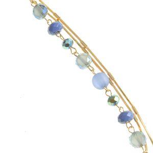 Colier dama albastru auriu