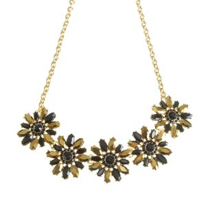 Colier elegant negru auriu