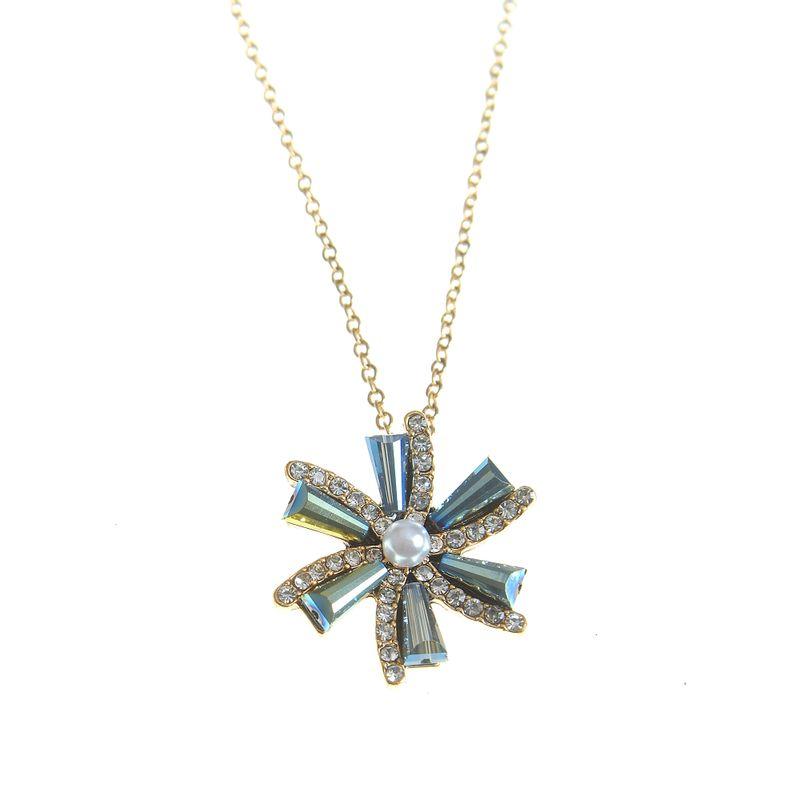 Colier-dama-cu-floare-albastra