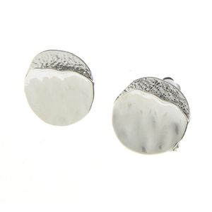 Cercei ondulati argintii