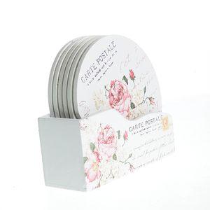 Suport pahare design floral
