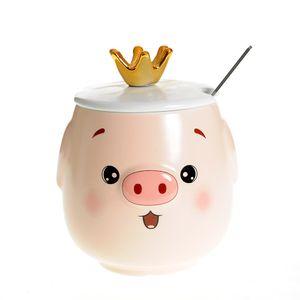 Cana ceramica porc