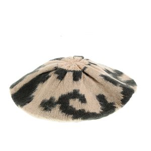 Caciula animal print tricotata