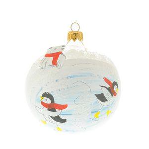 Glob pinguin cu patine