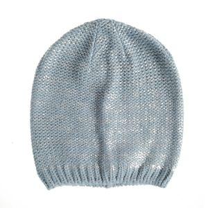 Caciula tricotata accente argintii