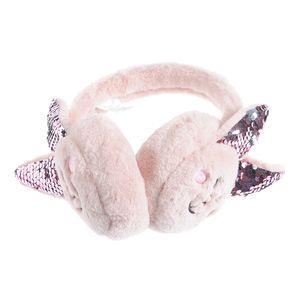 Aparatoare urechi cu paiete roz