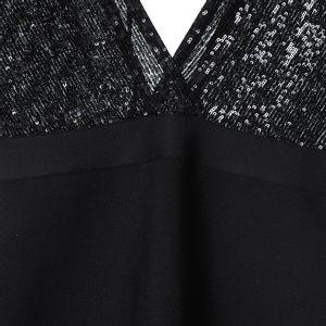 Rochie elastica paiete negre