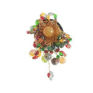 Brosa dama floare multicolora
