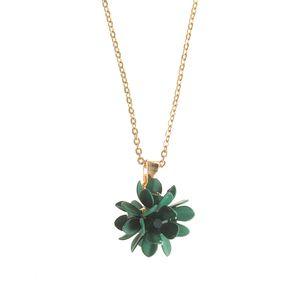 Colier dama floare verde