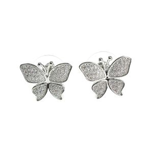 Cercei dama fluturi argintii