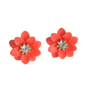 Cercei dama flori rosii